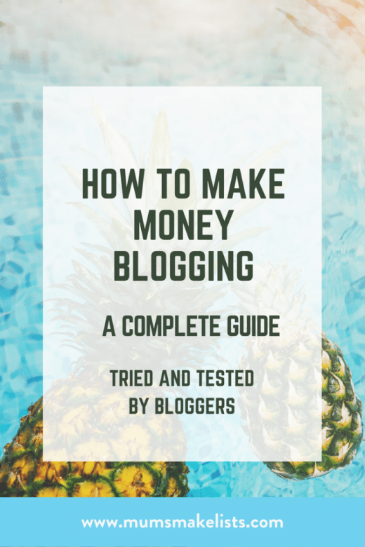 Make money blogging, how to make money blogging, guide to making money from blog