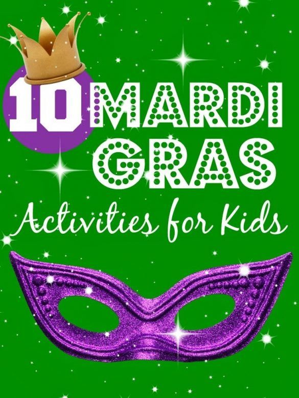 10 fun ideas for Mardi Gras kids activities, from making masks, to how to make jewellery and crowns, plus craft ideas and more. #MardiGras #KidsCraft #kidsactivities #kidsactivity
