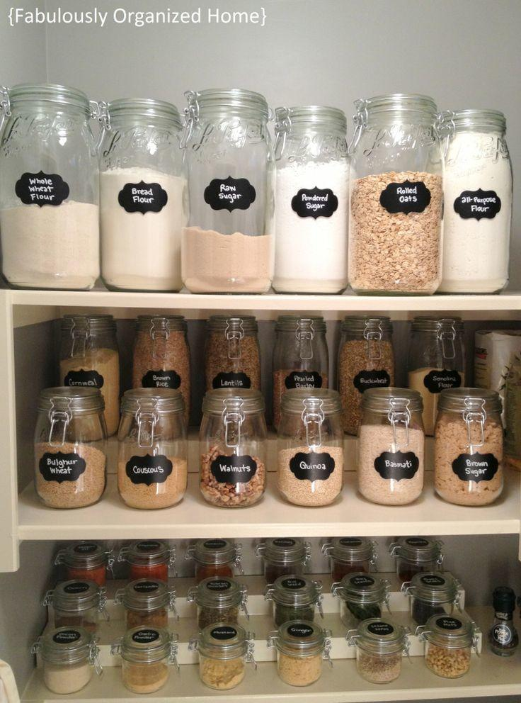 Mason jar home organisation mums make lists for Kitchen jar ideas