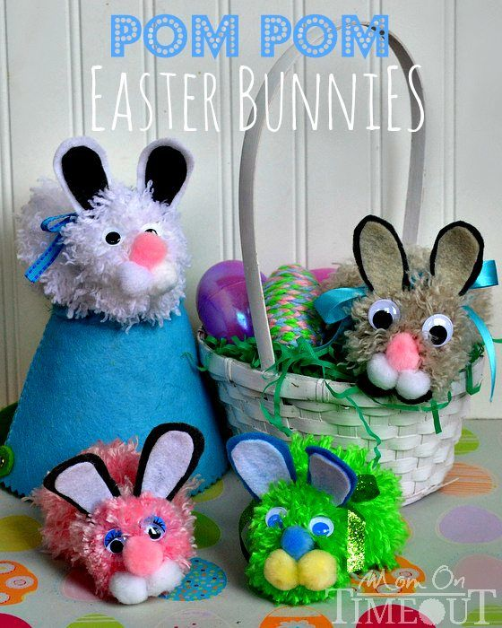 Easter bunny ... lovely Easter bunny crafts to make with and for kids