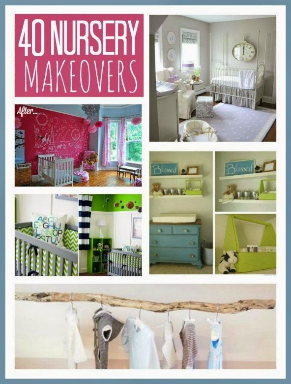 Nursery makeovers - loads of lovely baby nursery makeover ideas that you recreate on a budget