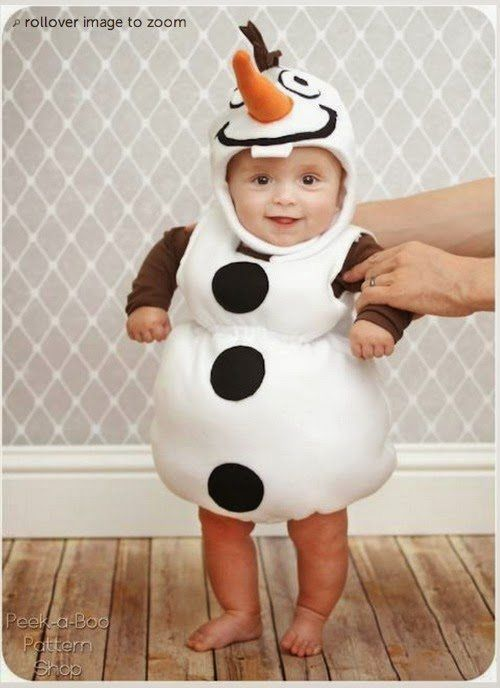 olaf the snowman from frozen baby costume - Halloween Costume Patterns For Kids