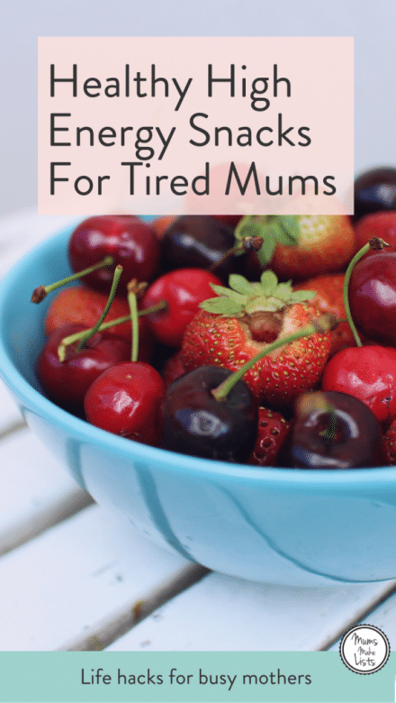 I've put together a list of healthy snacks for my fellow tired mums. It's easy to reach for sugary snacks when you're tired and on the go, but clean eating is a much better way to keep yourself going. Most of the snacks on the list are super easy to make or put togetther, some simply involve opening a packet! Take a peak, stock up and enjoy feeling less tired... #HealthySnacks #momlife #healthyfood #healthyeating