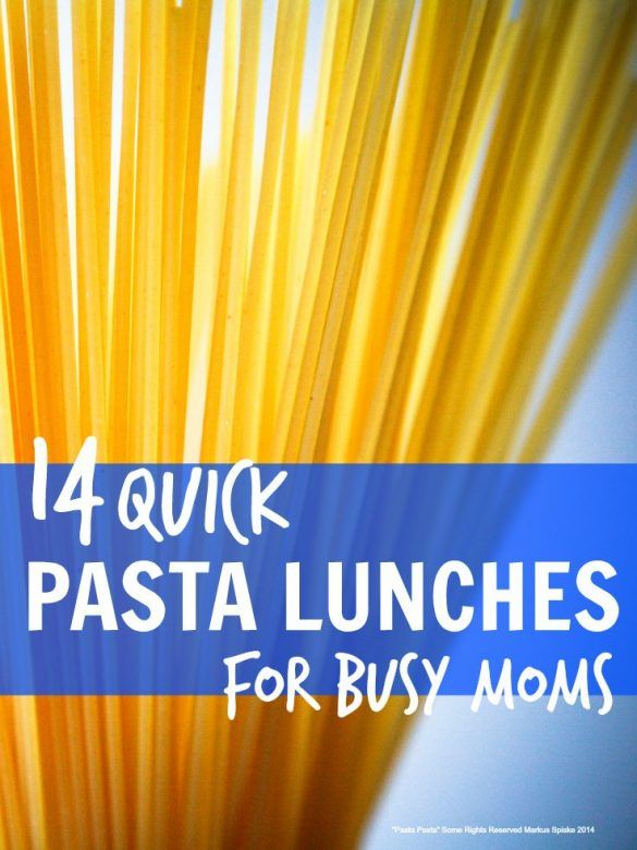 Quick pasta dishes for busy mums ... perfect when you need to get something healthyish on the table in 10 minutes flat!