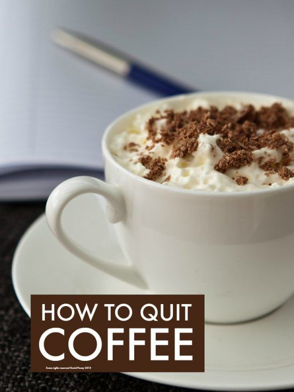 How to quit coffee - if you love coffee but seriously hate how anxious and irritable it makes you and are having trouble sleeping, check out these simple tips for cutting down