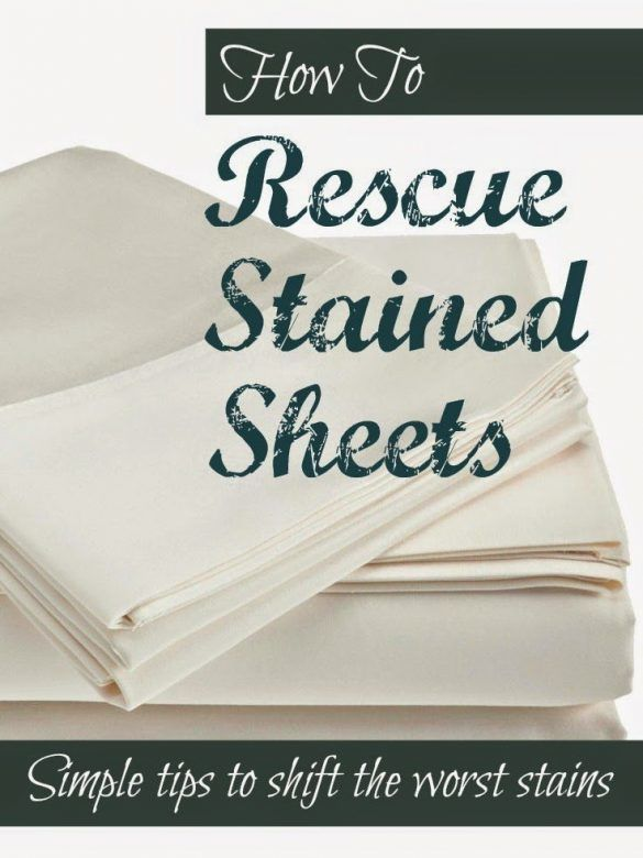 Laundry tips - how to rescue stained sheets