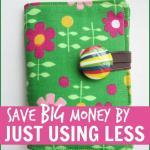 Save big money on household products and save money on your grocery bill simply by using less of everything #moneysaving #Frugal #FrugalLiving #Budget #Budgeting #BudgetingTips #Groceries