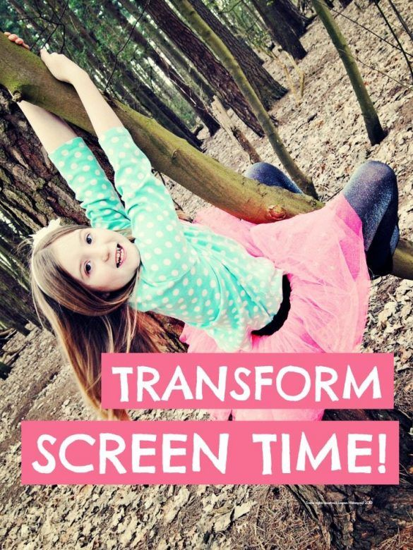 Transform screentime ... how to turn screen time on its head so it actually enriches outdoor play