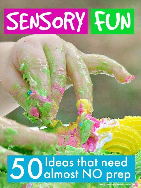 Fun sensory play ideas that need no prep