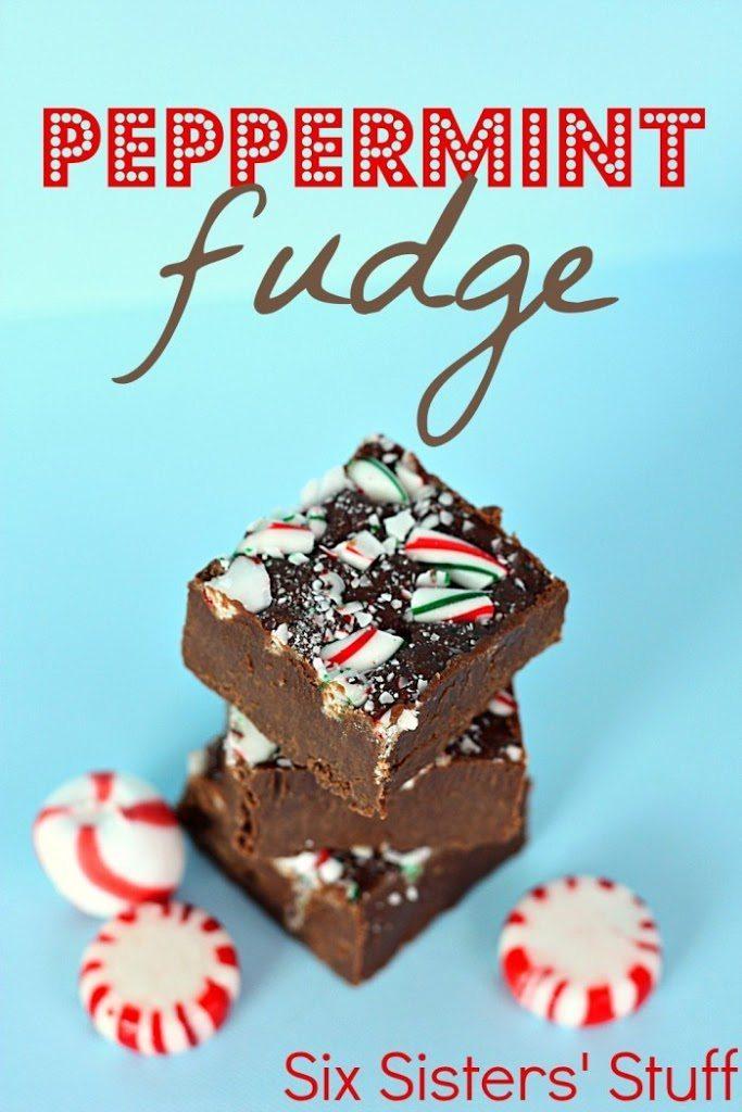 Peppermint Candy Cane Fudge … Six Sisters Stuff
