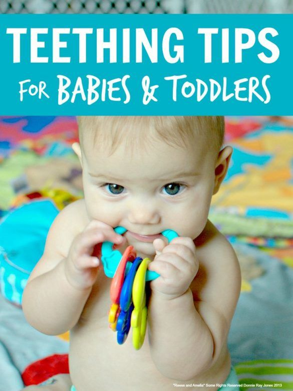 Teethings tips for babies and toddlers - loads of great tips from other mums on how to relieve the agony of teething
