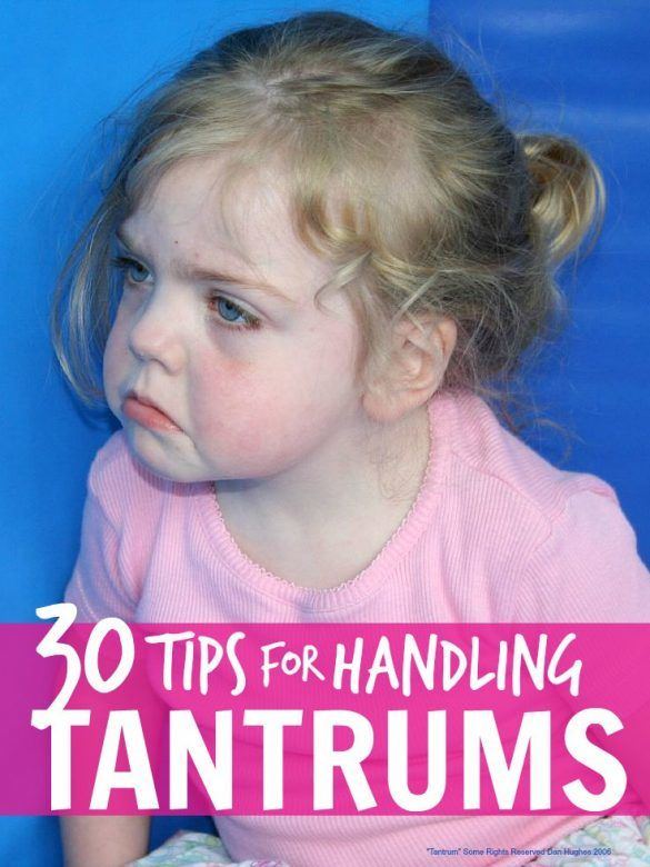 Tantrums - loads of different tips for handling tantrums, different tips will work best for different kids but this list will help you find those that work for you and your family