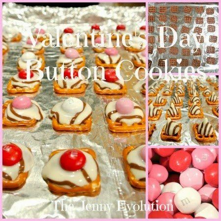 Valentine's Day Button Cookies