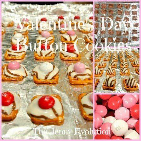 Valentine's Day Button Cookies