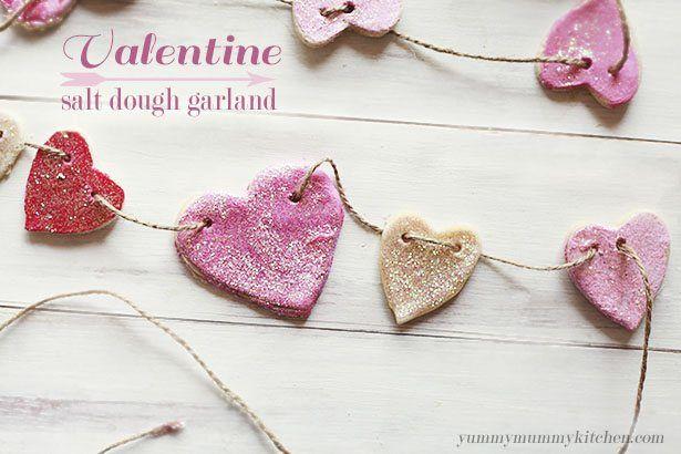 Valentine Day Crafts - Valentine Salt Dough Garland