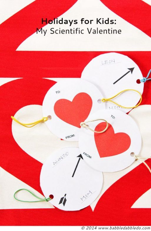 Valentine Day Crafts for Kids ... Add a little science to your Valentine Day crafts with these fab spinning hearts