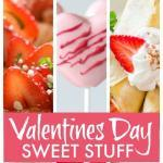 Valentines Day ideas and recipes for baking cookies, cake and making candy, desserts and delicious easy Valentine's treats. Great for a Valentine's gift and a lot are easy for kids to make. #Valentine #ValentinesDay #ValentinesDay2018 #Desserts #Cakes #Treats #Cookies #ValentinesGift #ValentinesDayGift