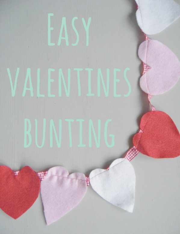 Valentines day crafts for kids ... easy Valentines Day bunting