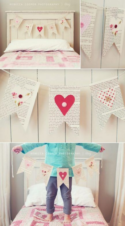 Valentines Day Crafts for Kids ... the prettiest Valentines Day bunting ...