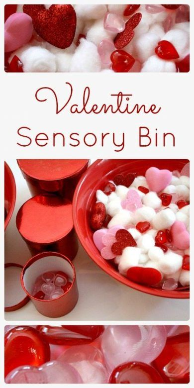 Valentines Day crafts for kids ... a fun Valentine sensory bin is a wonderful invitation to play and explore