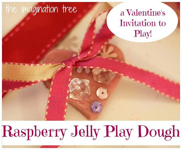 Valentines Day Crafts - Raspberry Jelly Valentine Play Dough