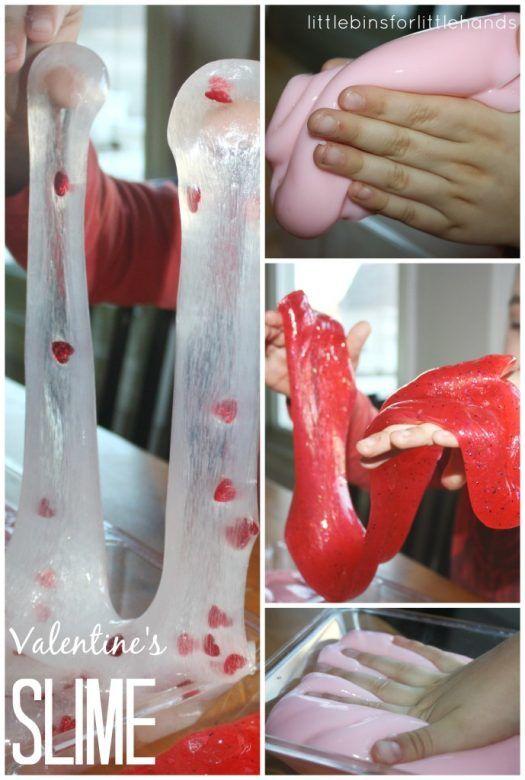 Valentines Day Crafts for Kids ... Super Sensory Valentines Slime