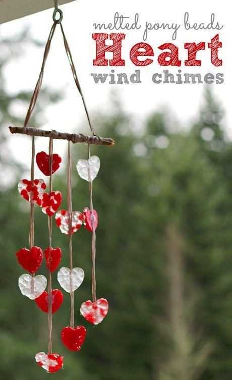 Valentines Day Crafts for Kids ... adorable Valentines Day wind chimes