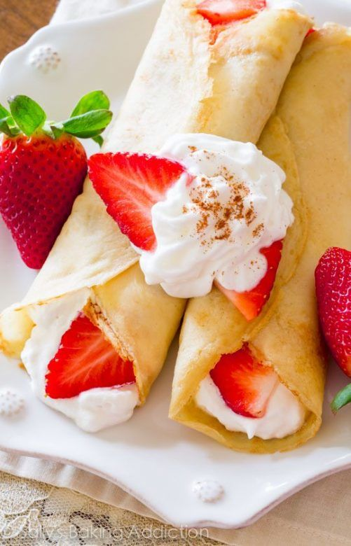 Valentines Day crepes ... the perfect crepes for Valentines Day