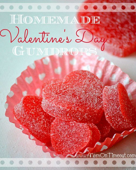 Valentines Day gumdrops ... make your own Valentines Day gumdrops with the kids ...
