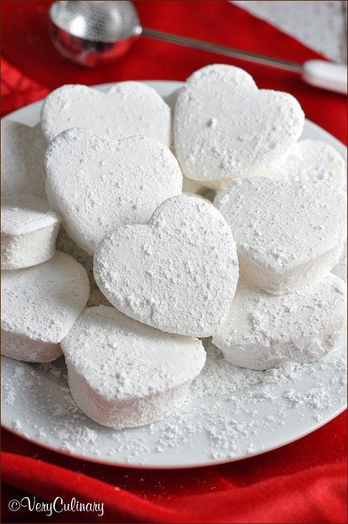Valentines day marshmallow hearts ...
