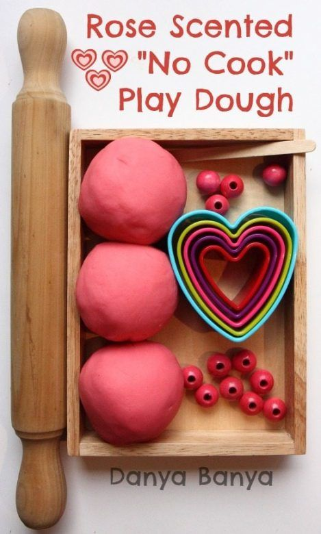Valentines Day Crafts for Kids ... Rose Scented No-Cook Playdough
