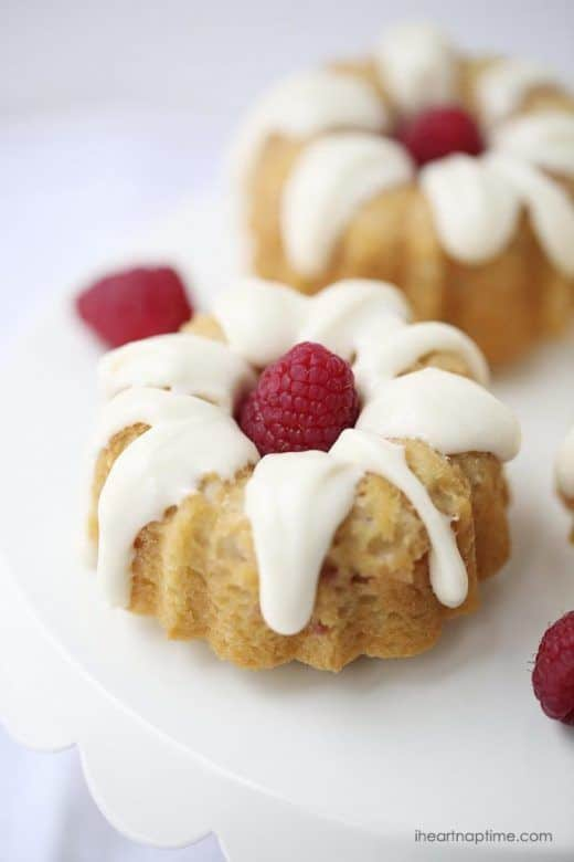 Valentines Day ... these easy to make mini raspberry bundt cakes would make a perfect Valentines Day dessert ...