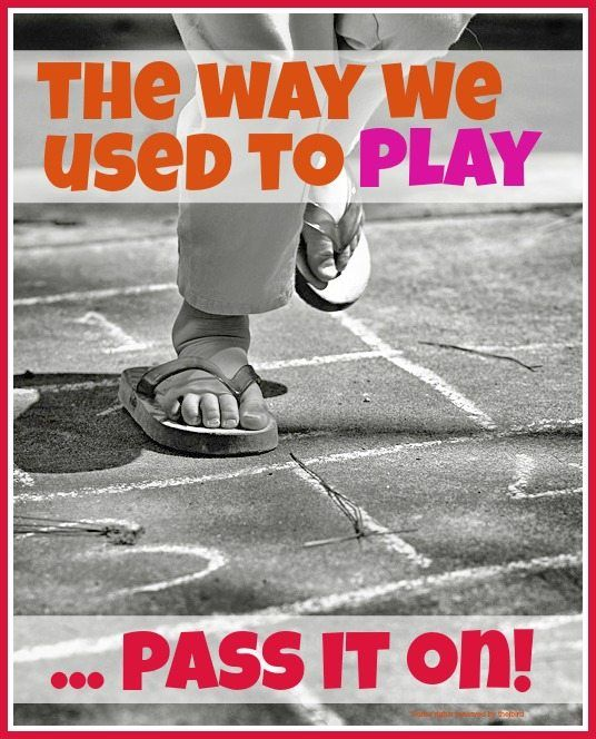 Traditional outdoor games - the outside games we used to play for hours without our parents and really need to pass on to our kids