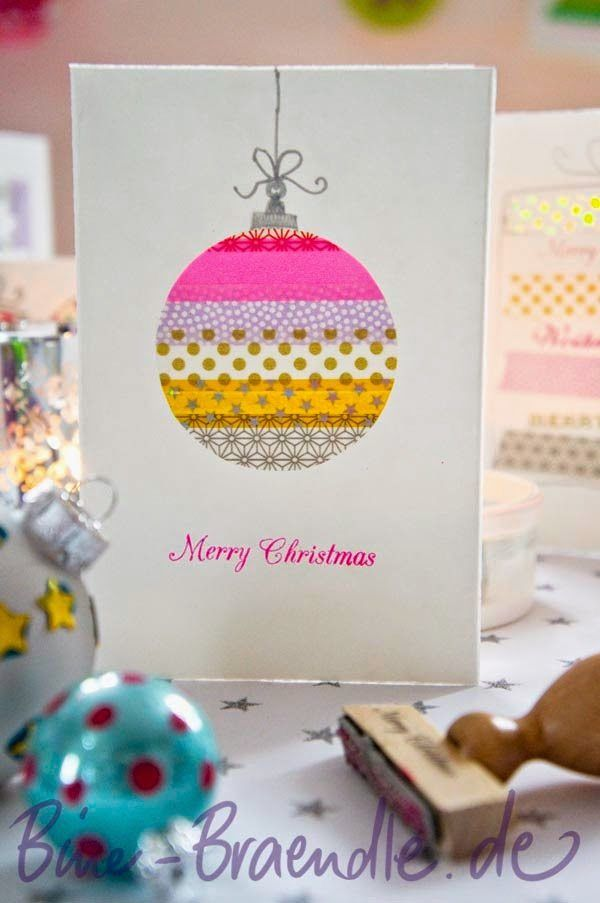 Christmas washi tape ... 20 lovely ideas for crafting with washi tape this Christmas