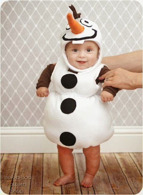 DIY Halloween Costumes For Babies - Free pattern for unbelievably cute Frozen inspired Olaf costume for babies